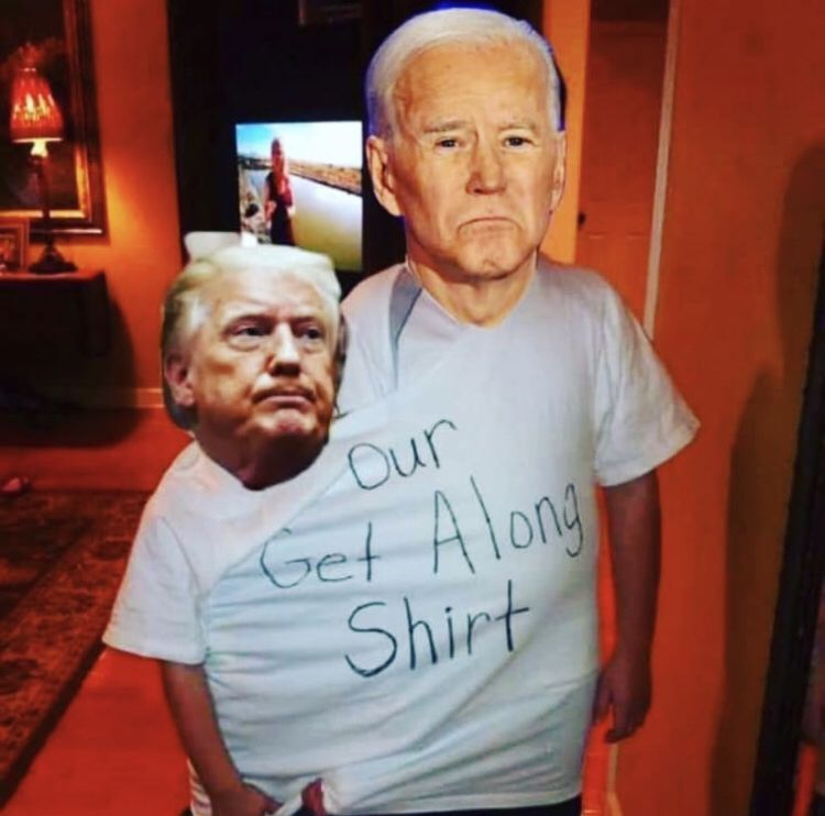 Trump Biden Meme Get Along Shirt Mens Tshirts Mens Tops