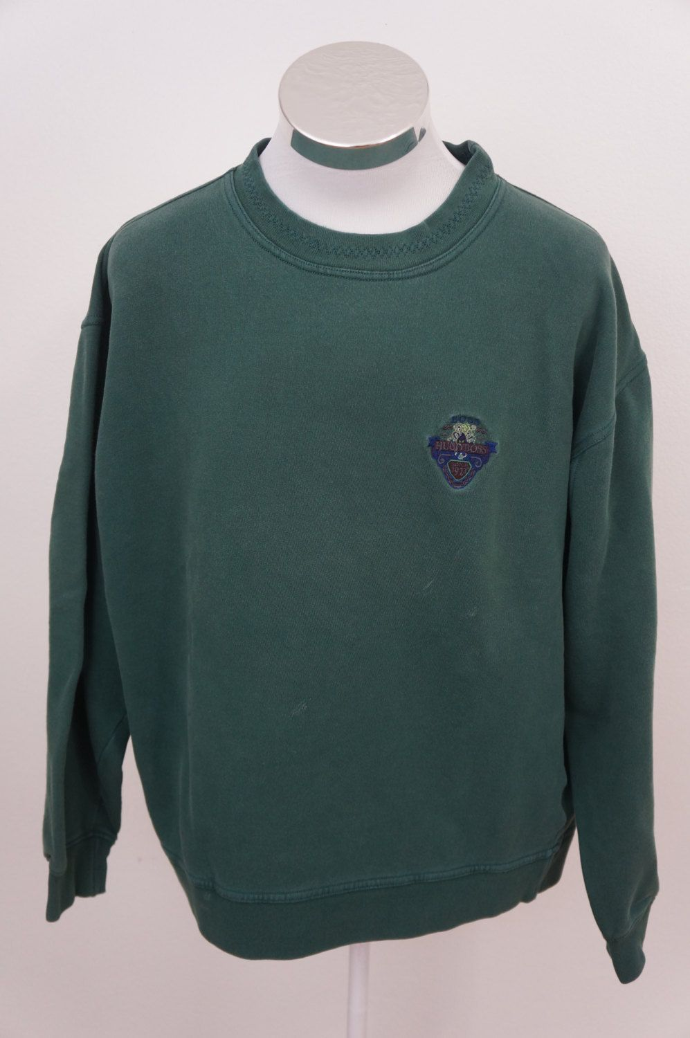 Vintage HUGO BOSS Pullover Crewneck Green Sweater Sz XXL 2XL by ...