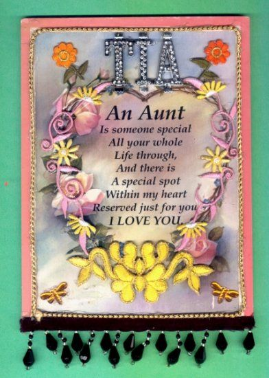 Handcrafted aunt poem wall plaque with pretty adornments for Inspirational valentine crafts