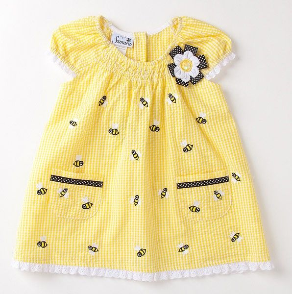 This is one of my favorites on totsy.com: Infant Embroidered Bee Dress
