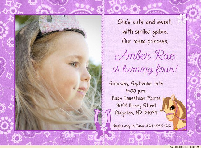 4th Birthday Party Invitation Wording My