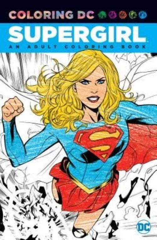Supergirl An Adult Coloring Book By Paperback Book English Book