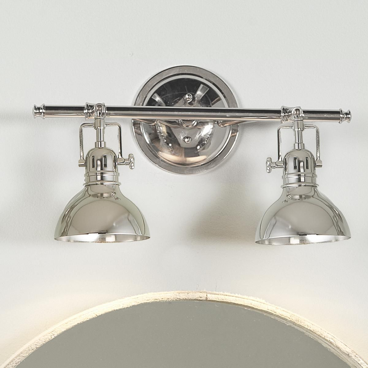 Bathroom Vanity 3 Light Fixture Brushed Nickel Cage Wall Lighting Allen Roth: More Bath Light, Bath And Polished Nickel Ideas
