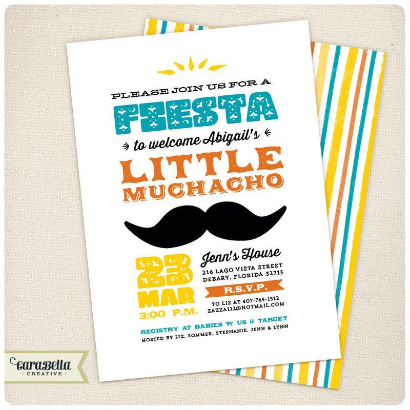 Fiesta Baby Shower Invitation Boy Printable by CaraBellaCreative ...