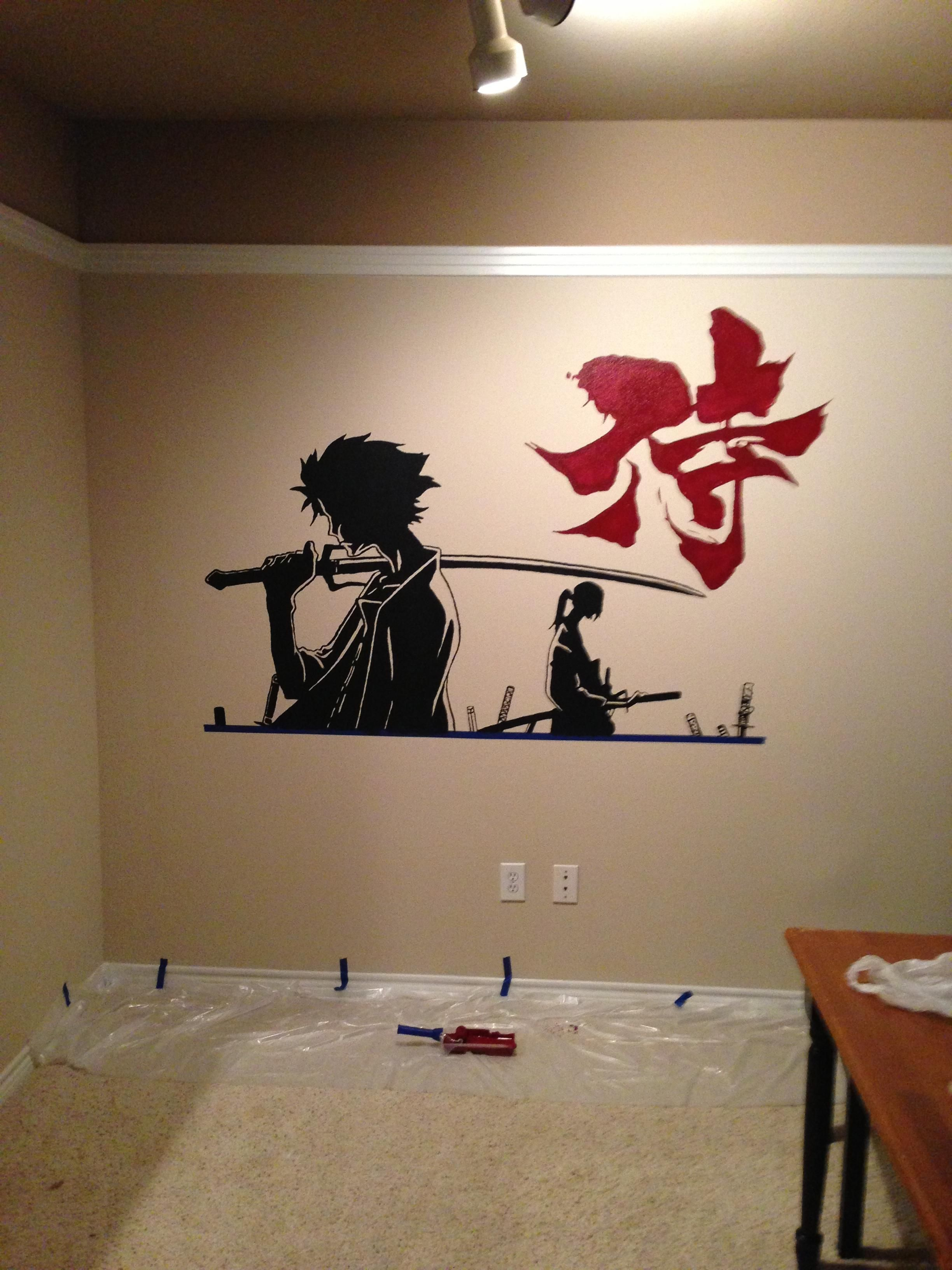 Painting Samurai Champloo Style Samurai Champloo Anime Wall Art Painting