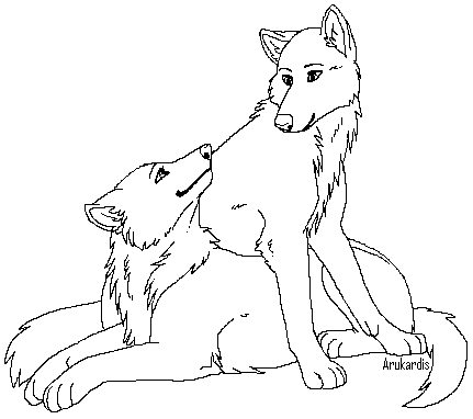 Anime Wolf Couple Coloring Pages Trend