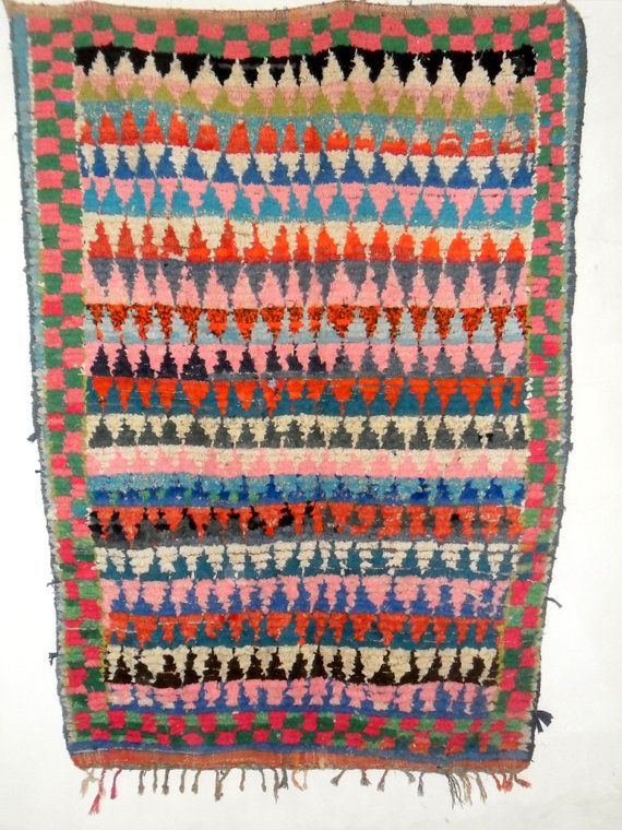 guernica picasso style moroccan rug boucherouite by filalishop