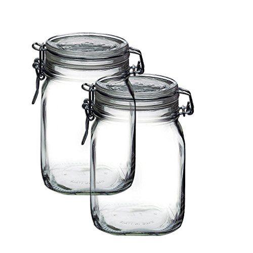 Bormioli Rocco Set Of 2 Fido Clear Jar 33 3 4 Ounce Borm Https Www Amazon Com Glass Food Storage Glass Food Storage Containers Food Storage Container Set