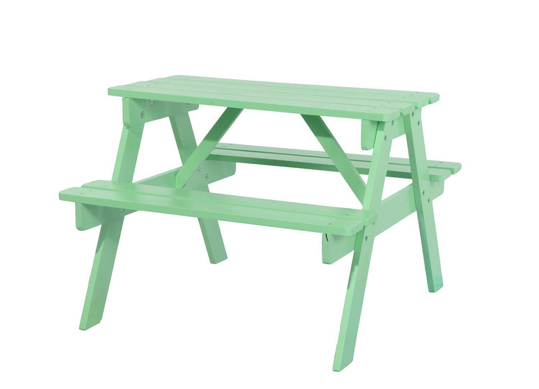 Childrens mint green outdoor wooden garden patio picnic