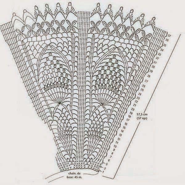 PATRONES GRATIS DE CROCHET: Patrón abanico motivo piña a crochet ...