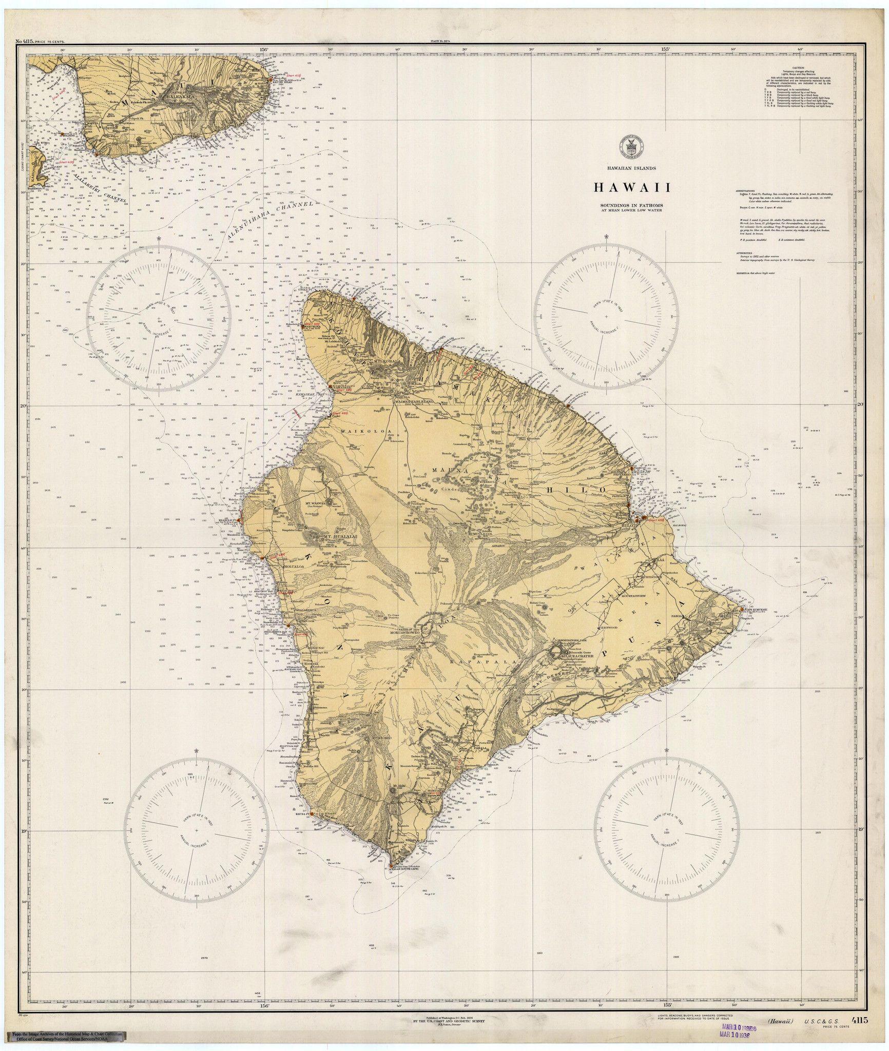 Uh Manoa Map Hawaii Historical Map 1936 U S Hawaii Vintage Photographs