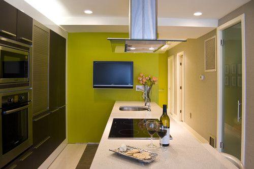 condo unit interior renovation contemporary kitchen dc metro by noa architecture planning interiors creative accent wall colors ideas - Accent Wall Ideas For Kitchen