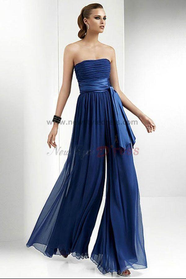 Fashion Royal Blue Chiffon Jumpsuits Wedding Party Nmo 042 Mother