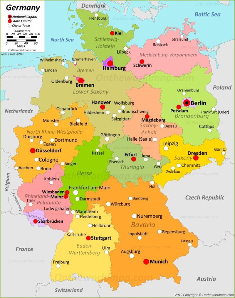 Map Of Germany Germany Map Germany Germany Castles