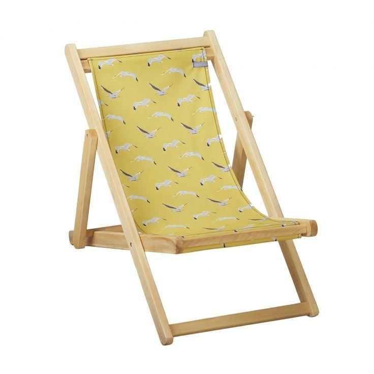 Son Calm Kleiner Liegestuhl Aus Holz Und Stoff Von Seagulls