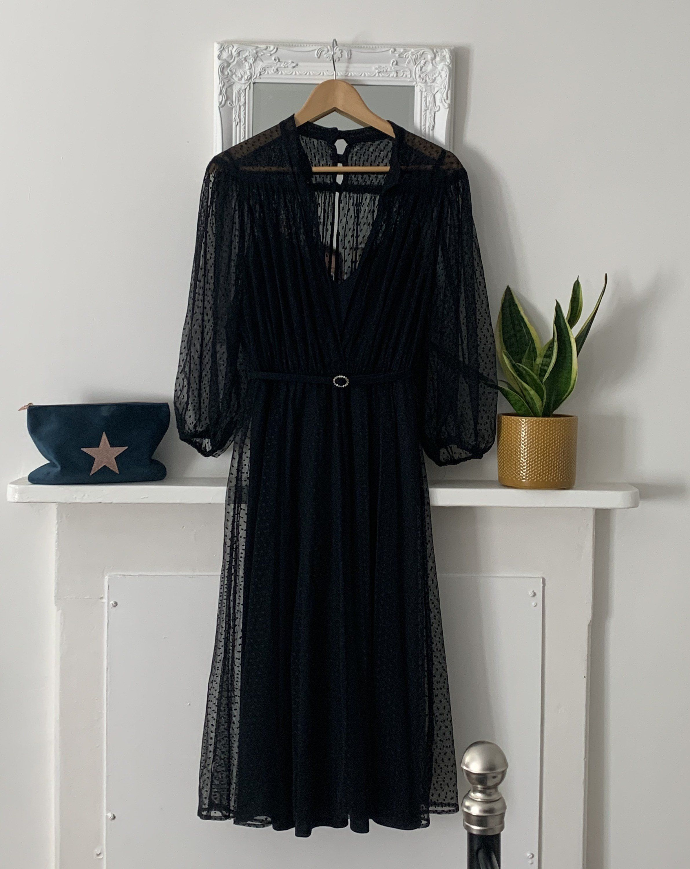 70s Black Sheer Dress Strappy Underdress Balloon Sleeve With Sheer Over Layer Excellent Condition Pol Balloon Sleeve Dress Black Sheer Dress 70s Maxi Dress [ 3000 x 2382 Pixel ]