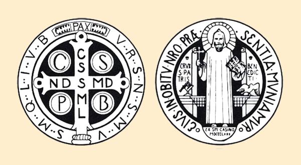 Oracion A San Benito Por El Trabajo Los Santos Catolicos Medallas De San Benito San Benito Cruz San Benito