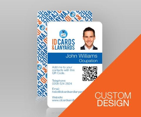 Double Sided Portrait Id Card Custom Design  Custom Design Logos
