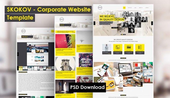 SKOKOV Corporate Web Design Template - http\/\/grapehic\/skokov - company profile free template