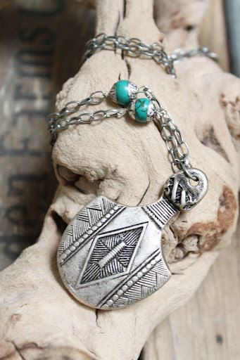 My Tribal Sheild Antiuqe silver pendant by handmadebyinali