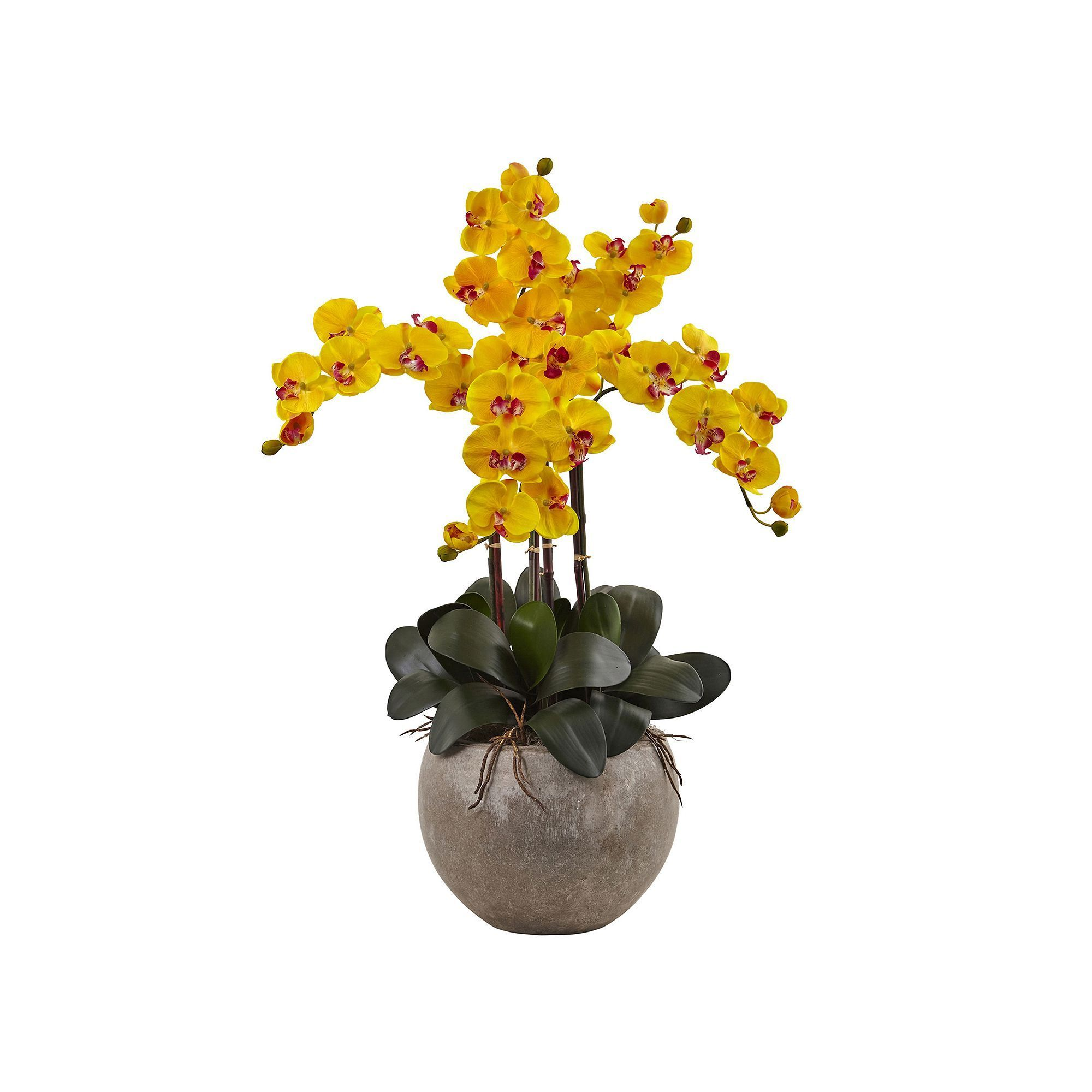 Nearly natural phalaenopsis orchid silk artificial floral