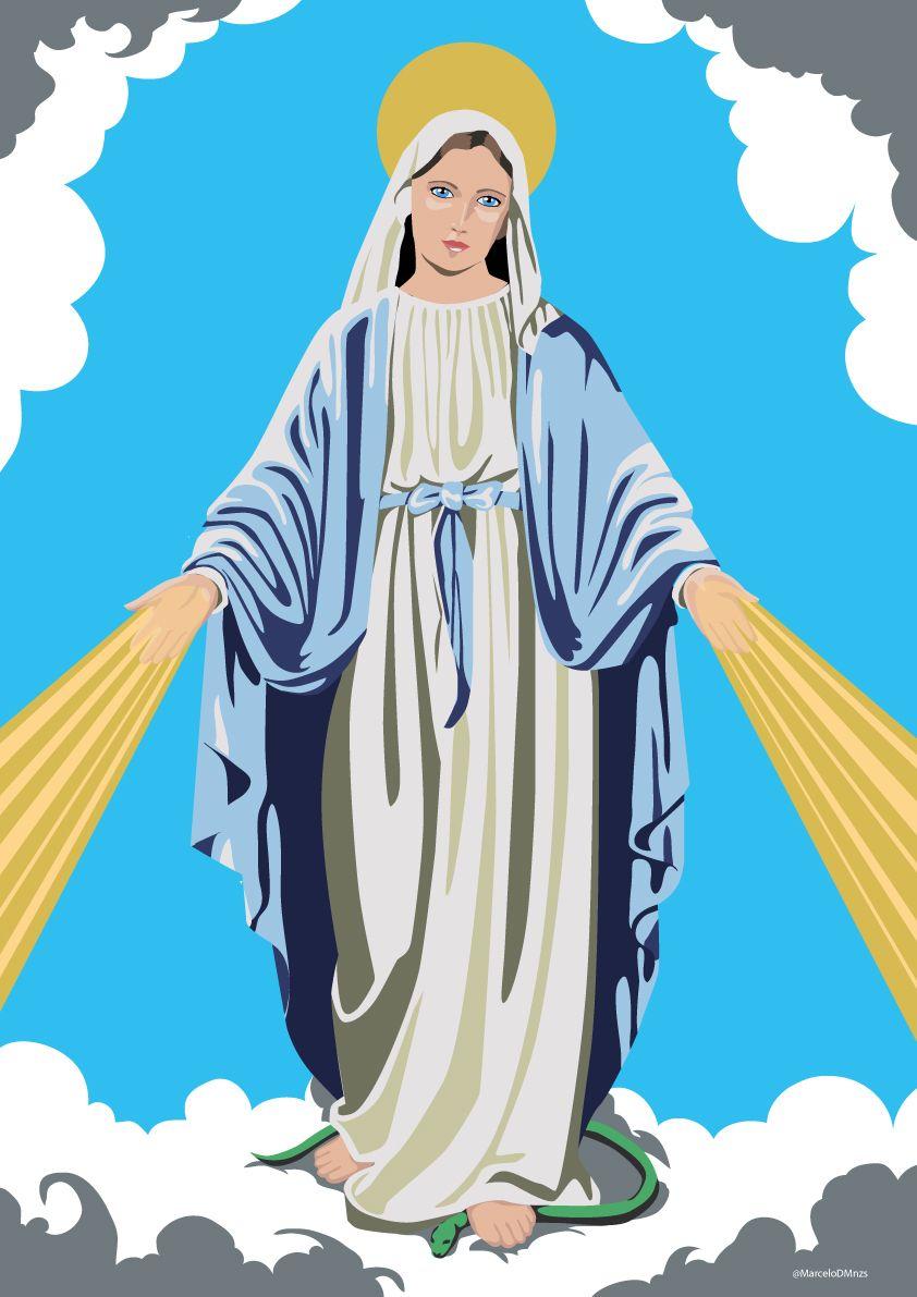 Nossa Senhora Das Gracas Desenho Jesus Nossa Senhora Das Gracas