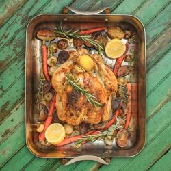 Roasted Chicken with Vegetables by southernboydishes