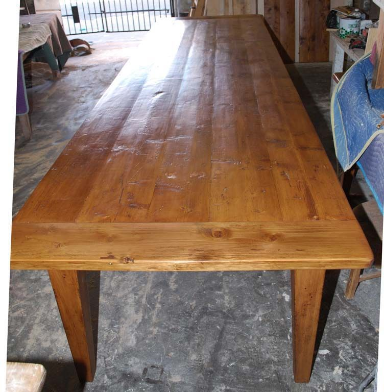 Attractive Harvest Table Made From Reclaimed Antique Pine. Expandable! 3