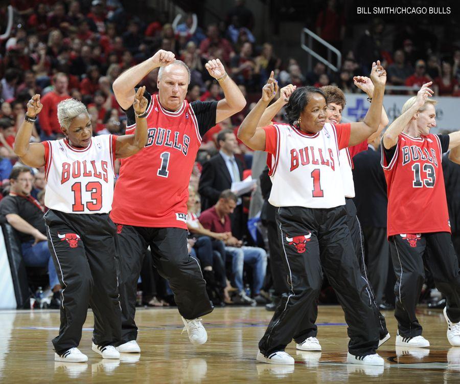 The everpopular Swingin' Seniors perform during Game 4