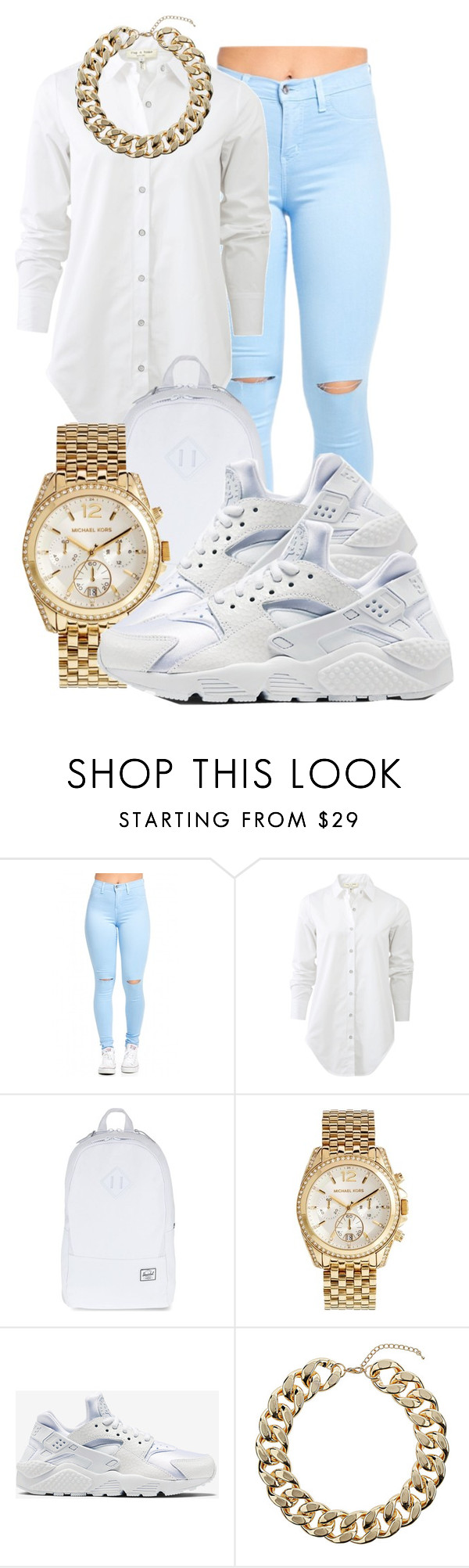 """"""""""" by honey-cocaine1972 ❤ liked on Polyvore featuring rag & bone, Herschel Supply Co., Michael Kors, NIKE and Topshop"""