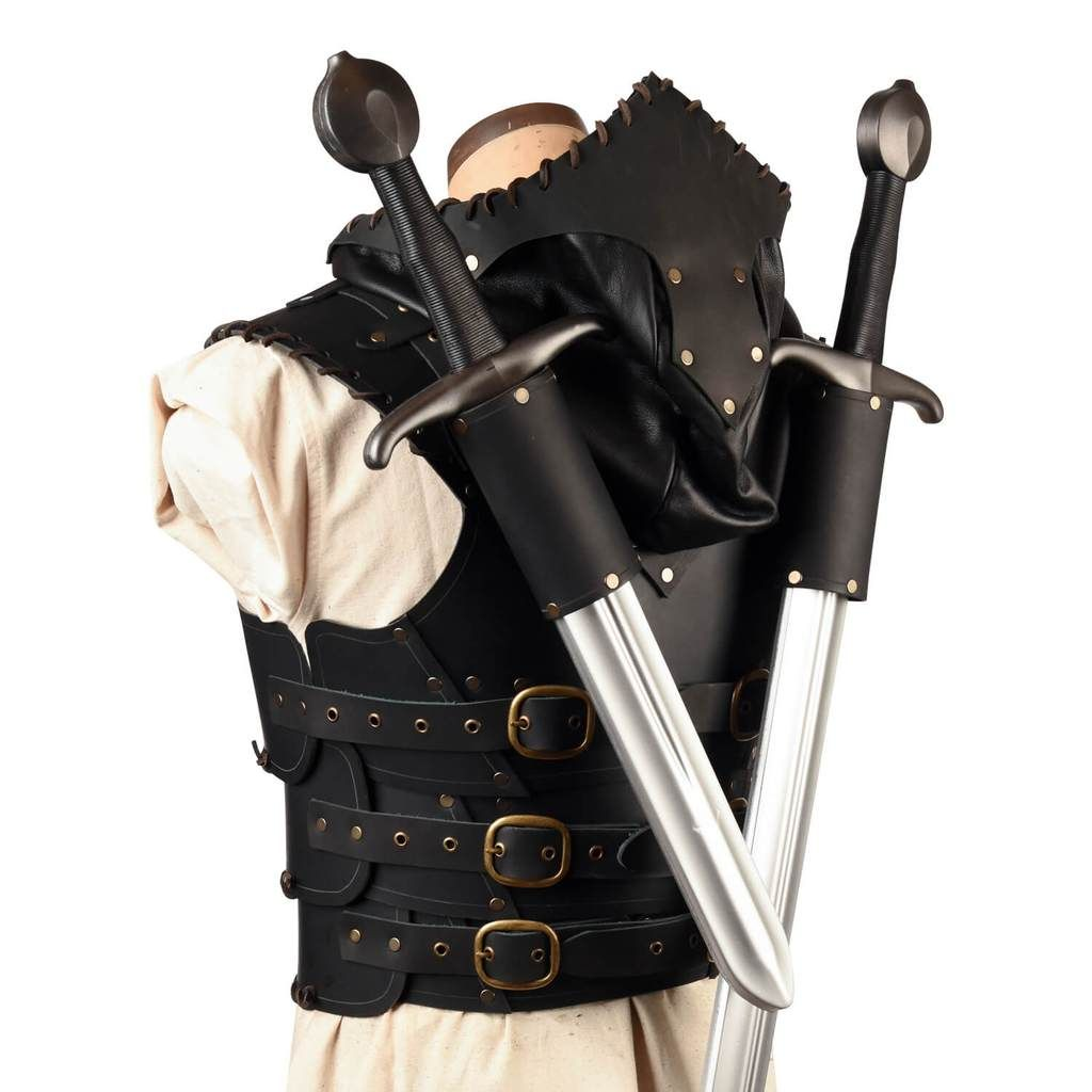 a0cf471553 Articulated Scoundrel Armor (Torso) with Hood - LARP Leather Armour –  Calimacil