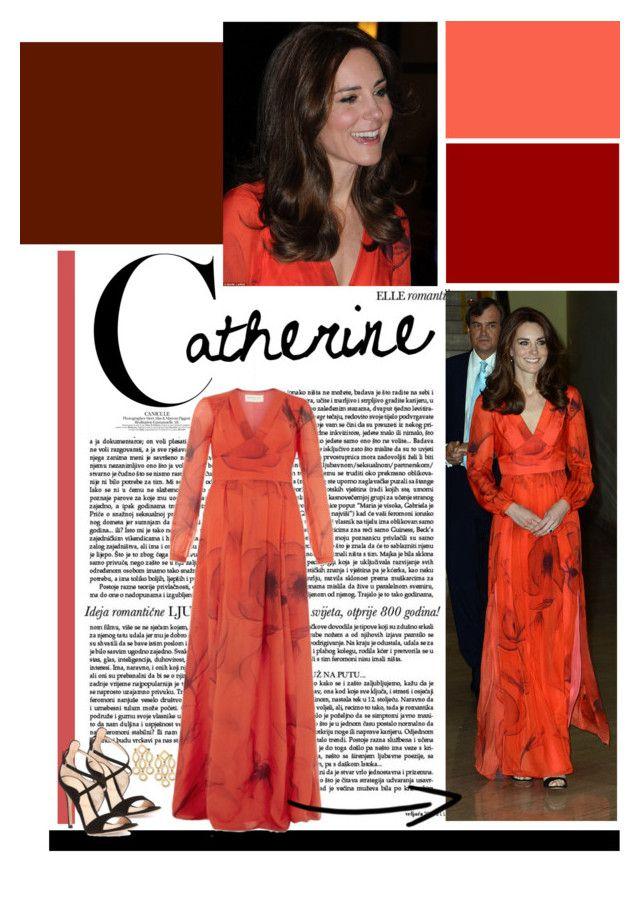 """""""Duchess of Cambridge in Beulah London Poppy Gown"""" by perth-fashion-stylist ❤ liked on Polyvore featuring Beulah, Gianvito Rossi, katemiddleton and duchessofcambridge"""