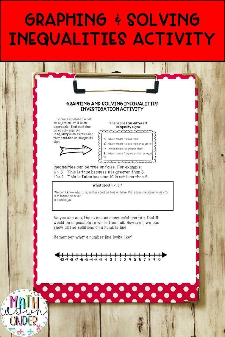 Graphing Inequalities Solving Inequalities Guided Notes Practice Graphing Inequalities Solving Inequalities Solving Inequalities Activities