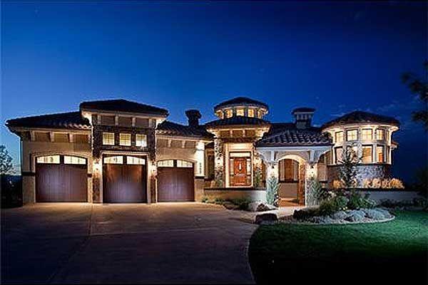 Plan 9539rw Mediterranean Dream Home Plan House Plans Dream House Plans Mediterranean Homes