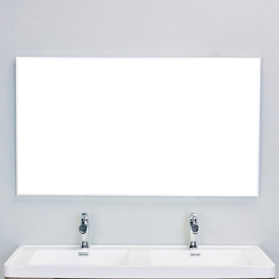Sax® Bathroom Wall Mirror 30x48 Brushed Nickel Finish   Clean Simple And  Works Great With The Light