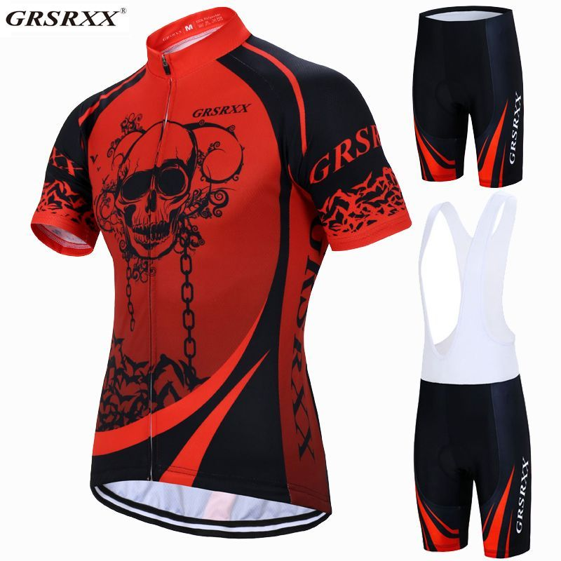 GRSRXX Cycling Jersey Set Summer Mountain Bike Sportswear Bicycle Clothes  Hombre Maillot Ropa Ciclismo  Affiliate bb9d73077