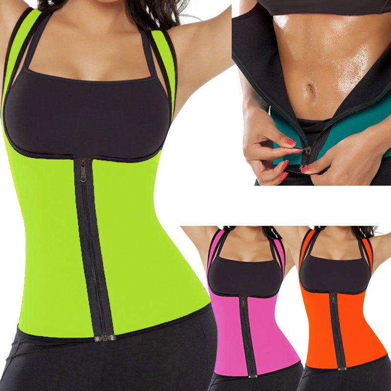a04607f335  USPS  New Women Neoprene Shapewear Push Up Vest Sweat Waist Trainer Tummy  Belly Girdle