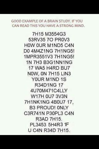 Our amazing minds.