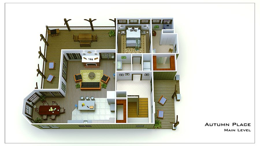 Small Cottage Plan With Walkout Basement | Cottage Floor Plan