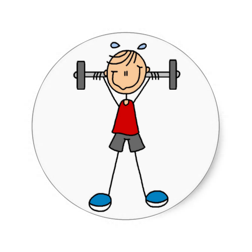 stick figure lifting weights