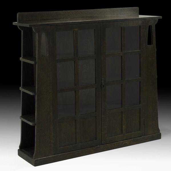 LIMBERT  Rare double-door bookcase, 1905