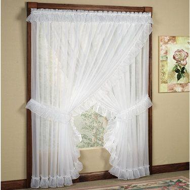 Jessica Ninon Ruffled Wide Priscilla Curtains   Priscilla curtains ...