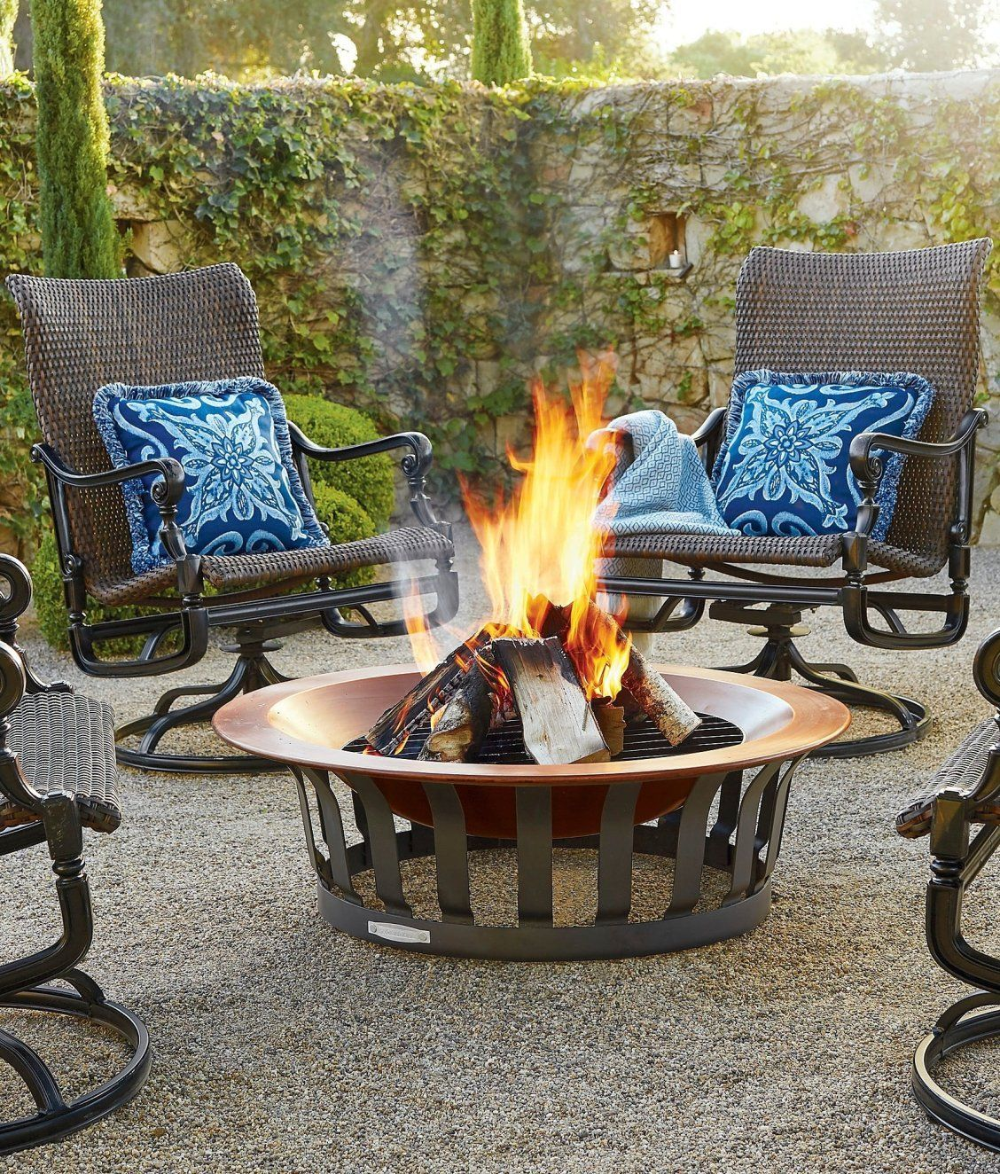 Classic Copper Fire Pit Frontgate in 2020 Outdoor fire