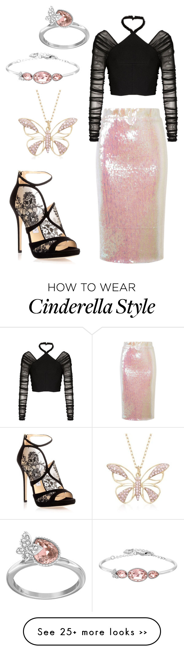 """Sparkly butterflies"" by cassie-poulsen on Polyvore featuring Essentiel, Balenciaga, Jimmy Choo and Swarovski"