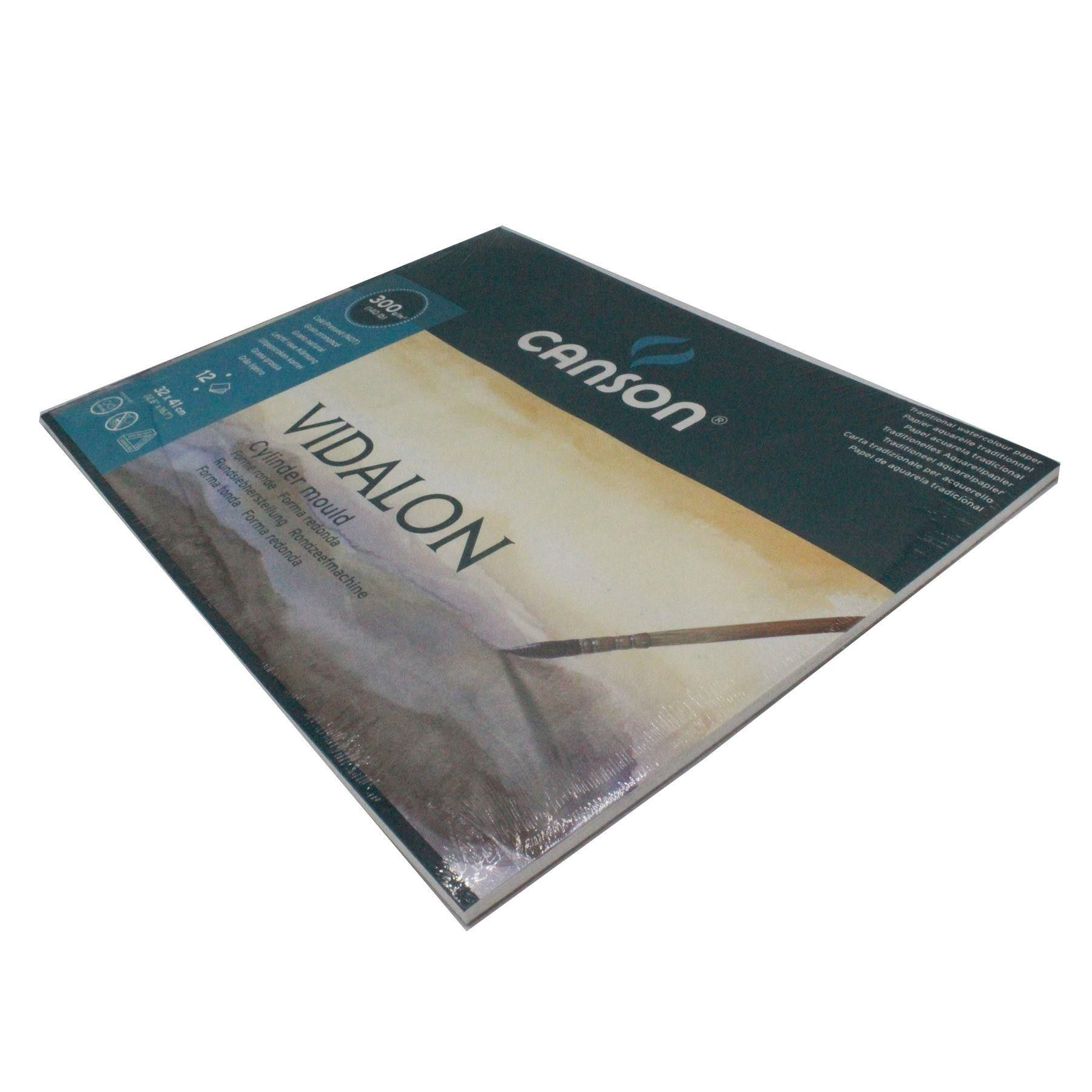 Canson Vidalon Watercolour Paper Pads 300gsm 140 Lbs 12 Sheets