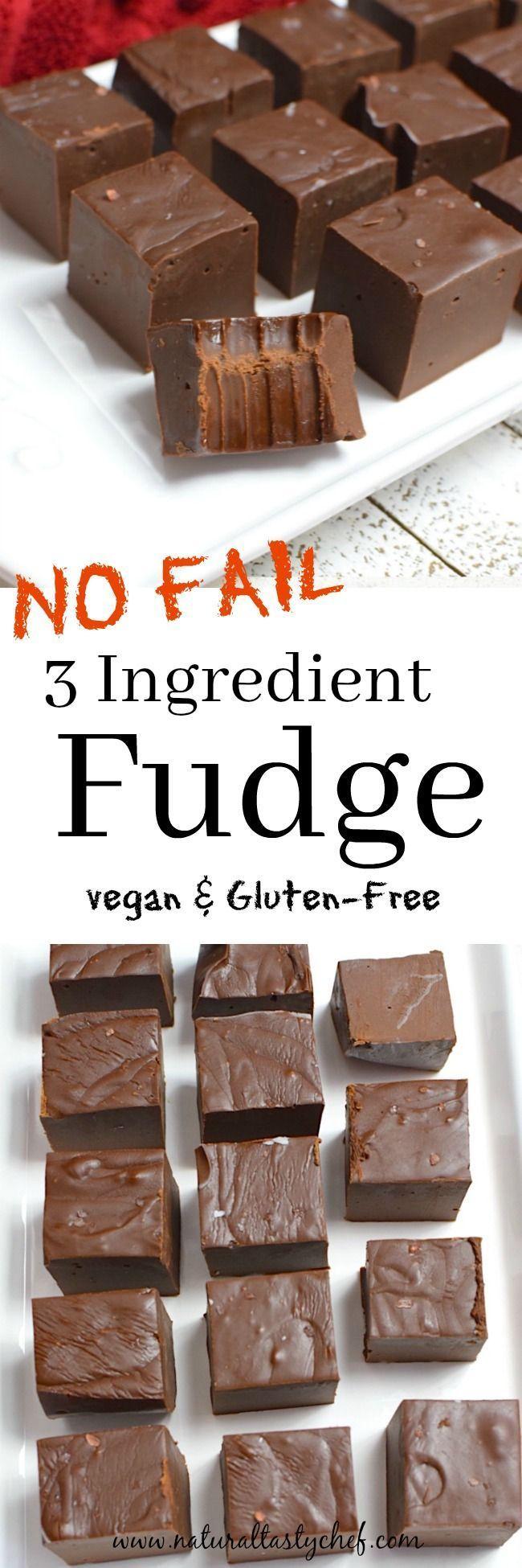 Easy, No-Fail Vegan Chocolate Fudge | Recipe | Vegan fudge ...