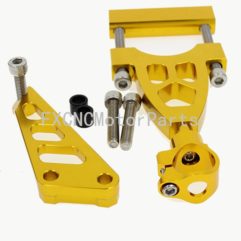 33.20$  Watch here - http://alilve.shopchina.info/go.php?t=32670236312 - CNC Aluminum Gold Steering Damper Stabilizer Bracket Mounting Support Kits For Honda CB400 VTEC 1999-2010  #bestbuy