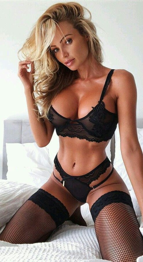 tit lingerie blonde big Hot