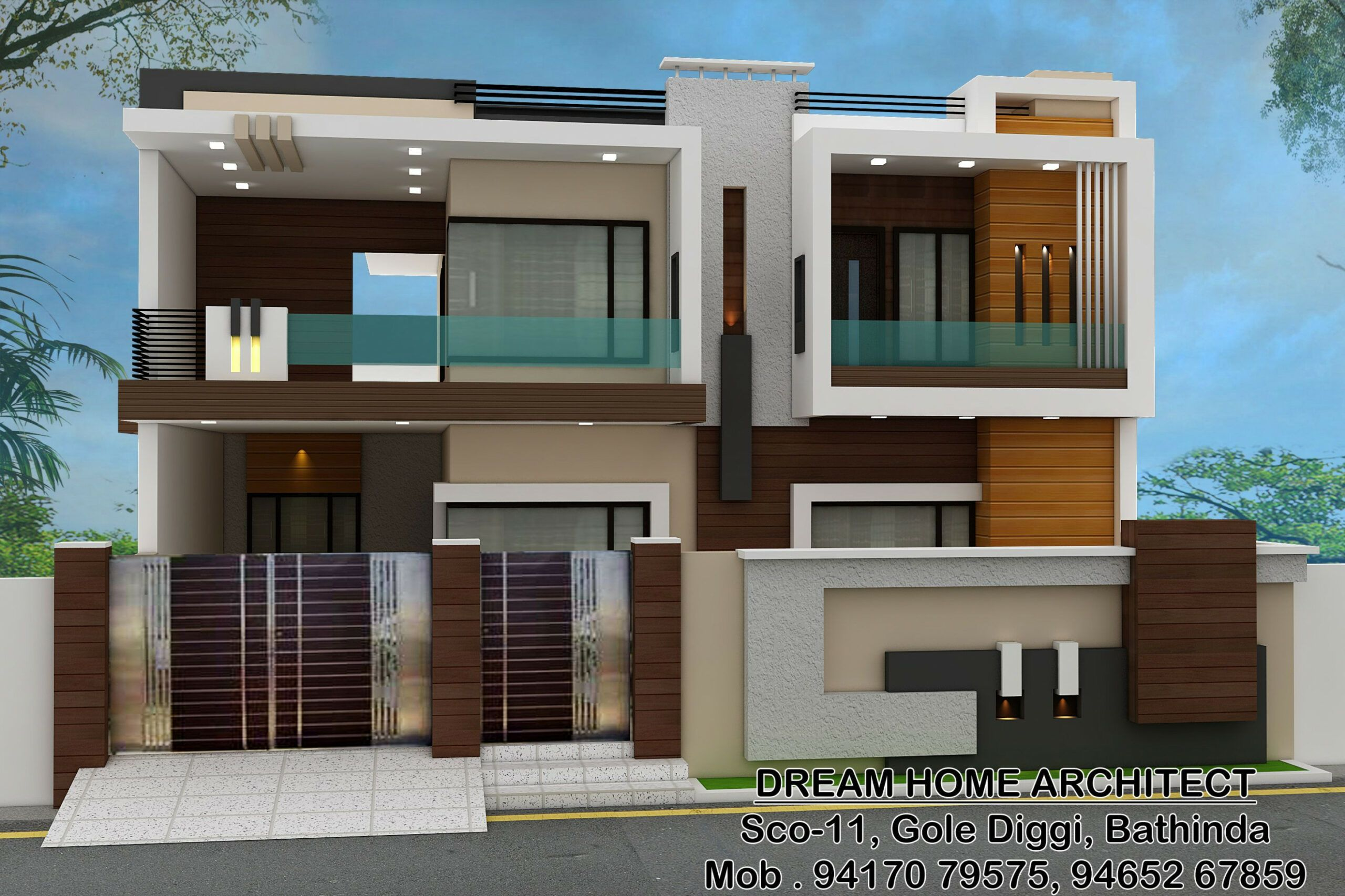 Pin By Anand Shukla On Boundary Des In 2020 Bungalow House
