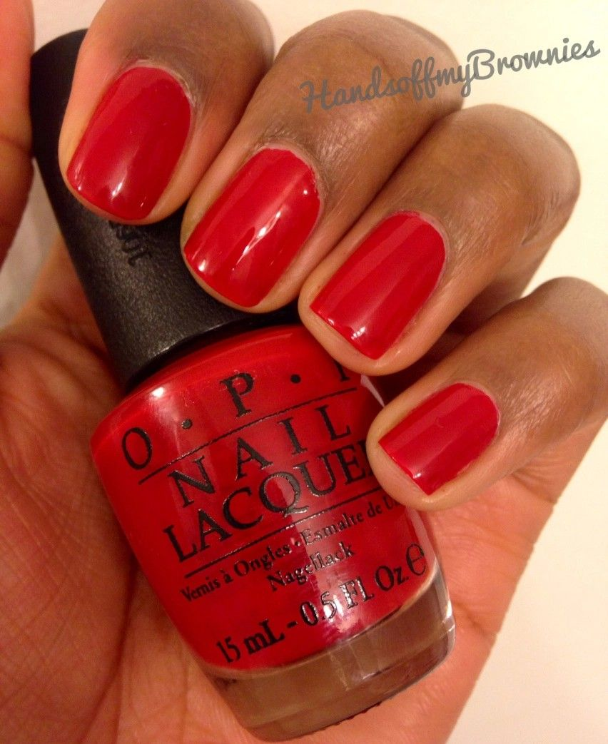 OPI Big Apple Red On Dark Skin Nail Polish